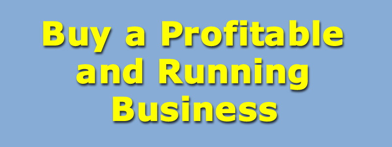 Buy a Profitable and Running Business