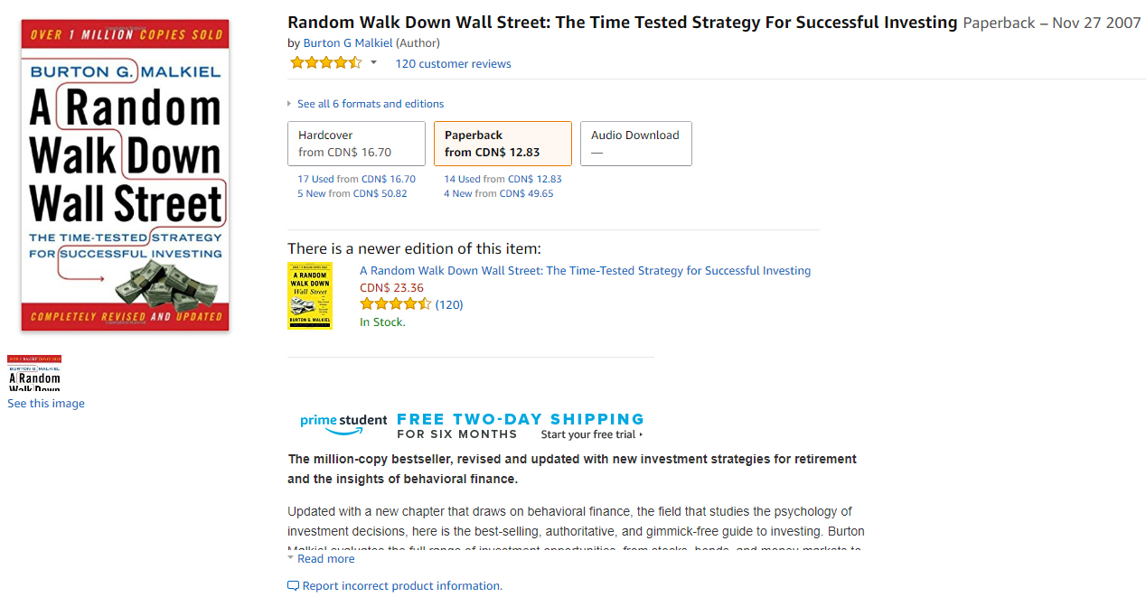 A Random Walk Down Wall Street Review