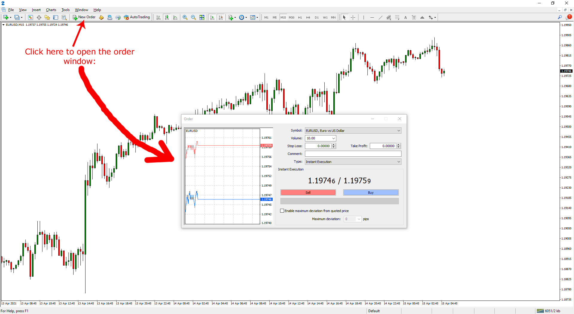 How to Set a Sell Limit Order on MT4